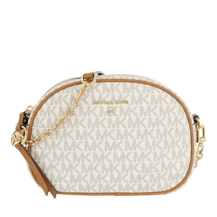 bags, MICHAEL Michael Kors, Sm Oval Cmra Xbody Vanilla/Acrn