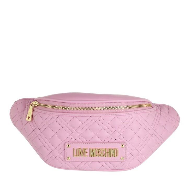 bags, Love Moschino, Borsa Quilted Pu  Malva