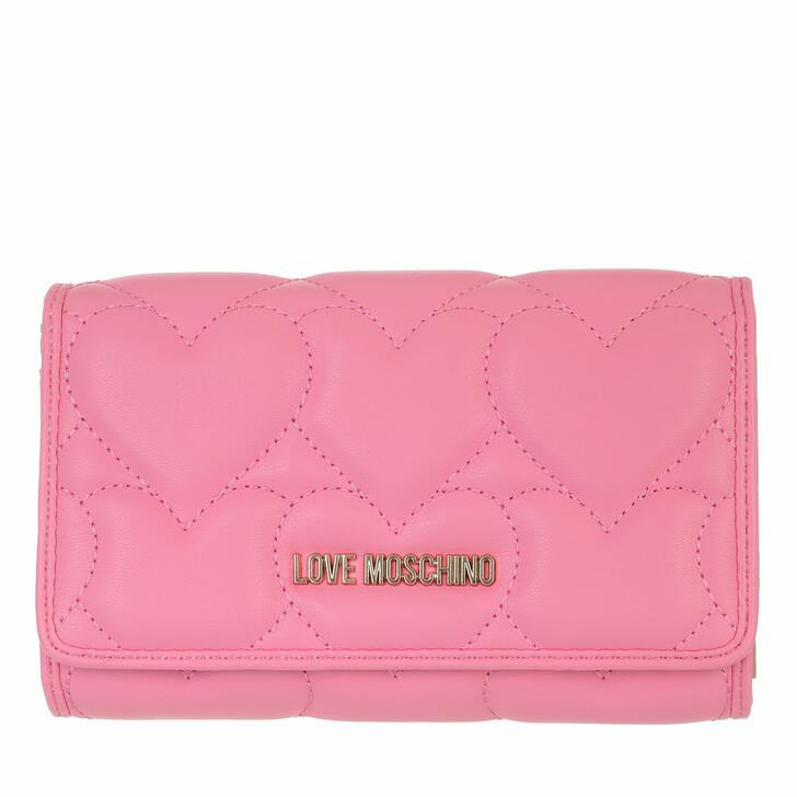 wallets, Love Moschino, Portafogli Quilted Rosa
