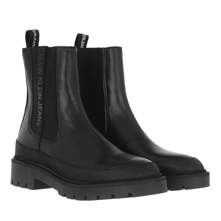 shoes, Calvin Klein, Combat Mid Chelsea Boot Rubber Black
