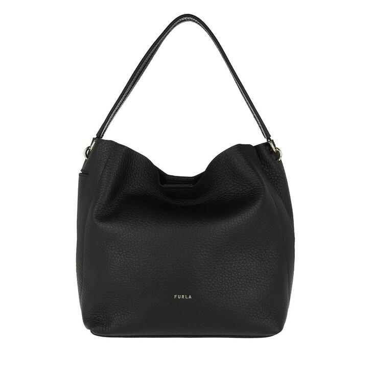 Handtasche, Furla, Grace Medium Hobo Bag Black