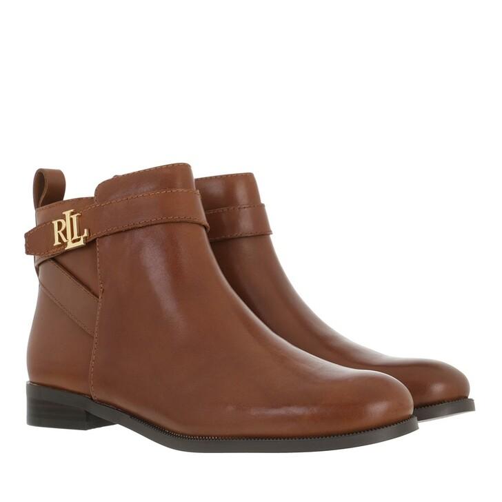 shoes, Lauren Ralph Lauren, Bonne Boots Casual Deep Saddle Tan