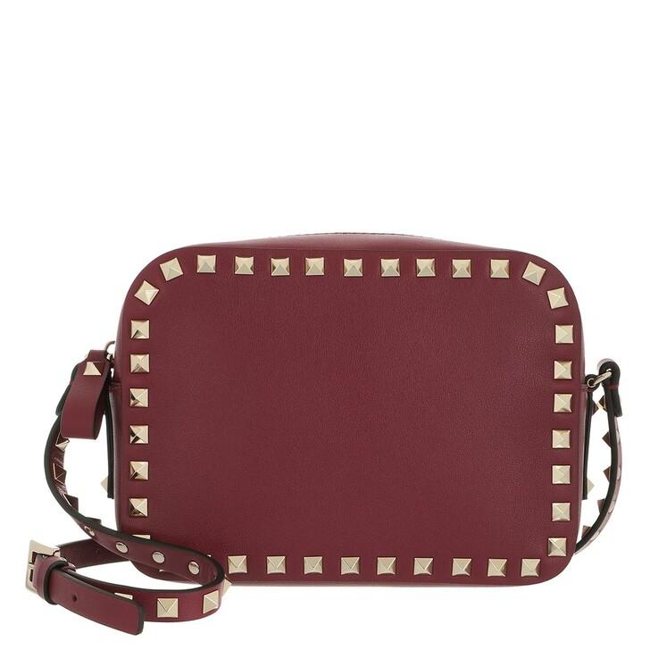bags, Valentino Garavani, Rockstud Camera Crossbody Bag Cerise