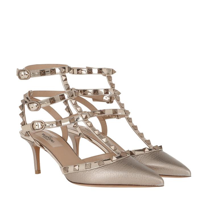 Schuh, Valentino Garavani, Rockstud 3 Ankle Strap Pump Skin