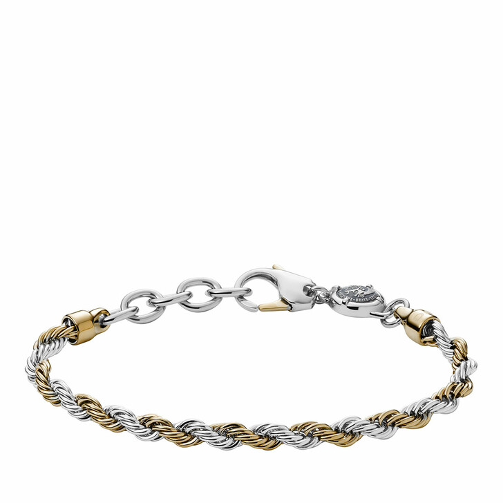 Armreif, Diesel, Stainless Steel Braided Bracelet Yellow Gold