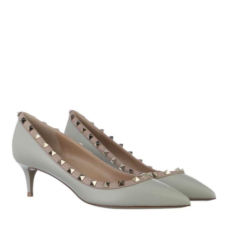 Schuh, Valentino Garavani, Rockstud Pumps Grey