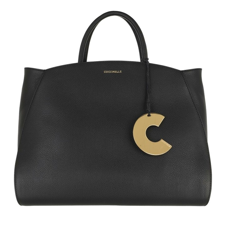 Handtasche, Coccinelle, Concrete Handle Tote Bag Noir