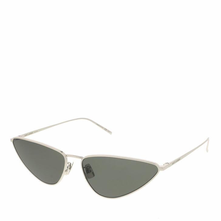 sunglasses, Saint Laurent, SL 487-002 63 Sunglass Woman Metal Silver-Silver-Grey