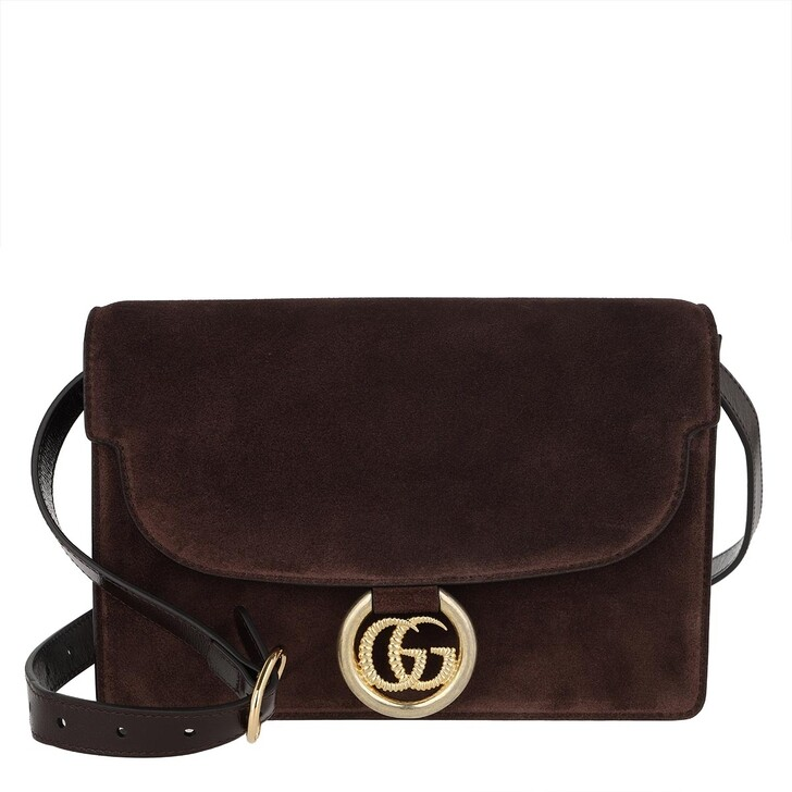 Handtasche, Gucci, GG Ring Shoulder Bag Brown