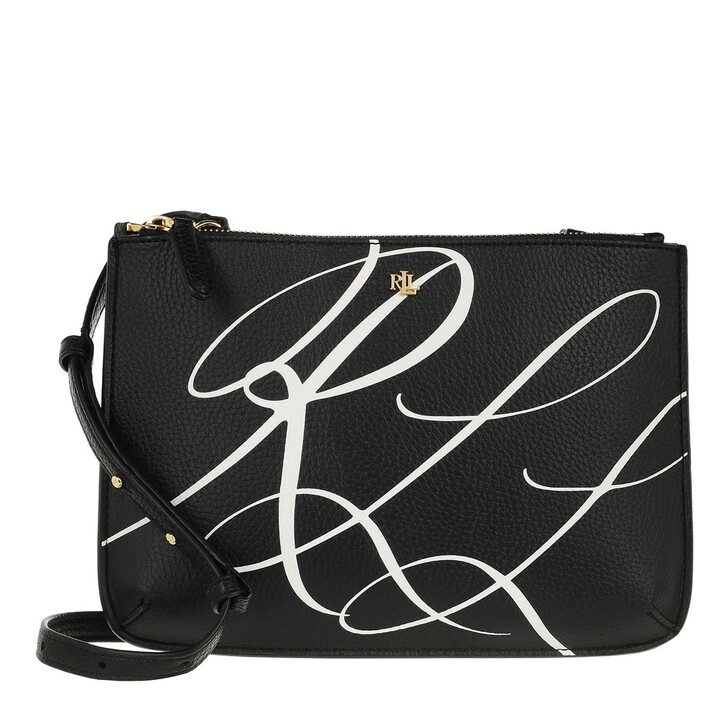 Handtasche, Lauren Ralph Lauren, Carter 26 Crossbody Medium Rll Script Black/Snow White