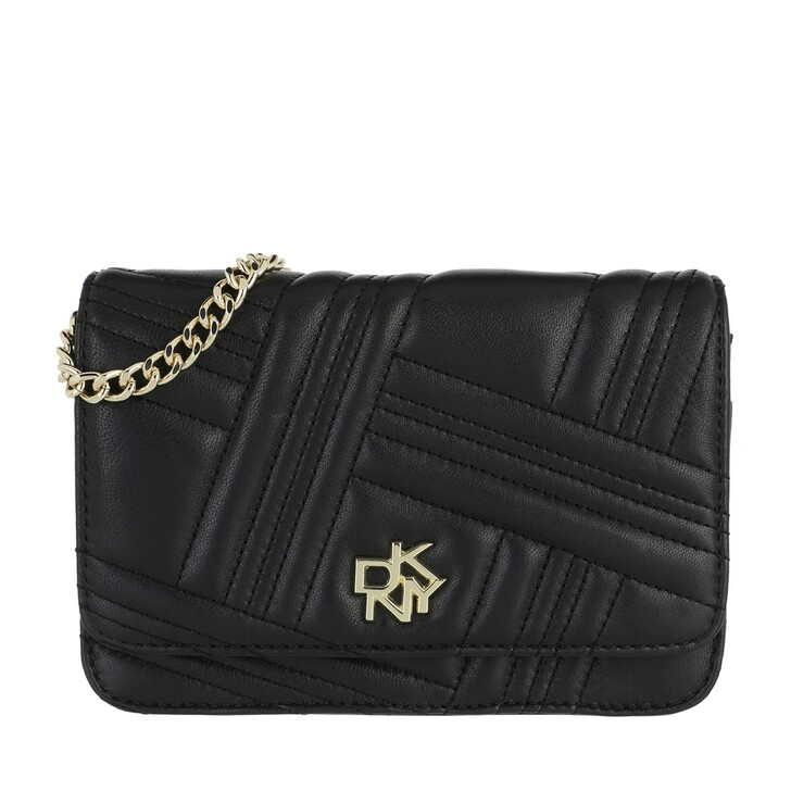 Geldbörse, DKNY, Alice On A String Wallet Leather Black Gold