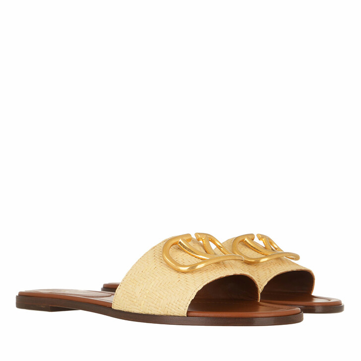 Schuh, Valentino Garavani, Slide Sandals Natural