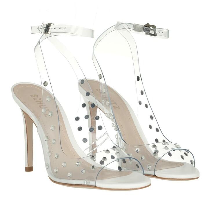 Schuh, Schutz, Brieela Vinyl & Leather Sandal White