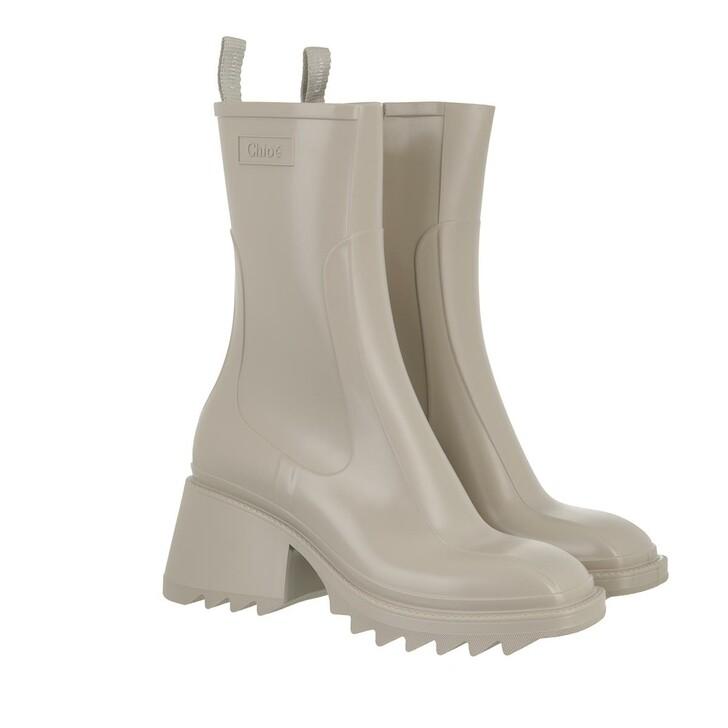 shoes, Chloé, Betty Rain Boots Beige
