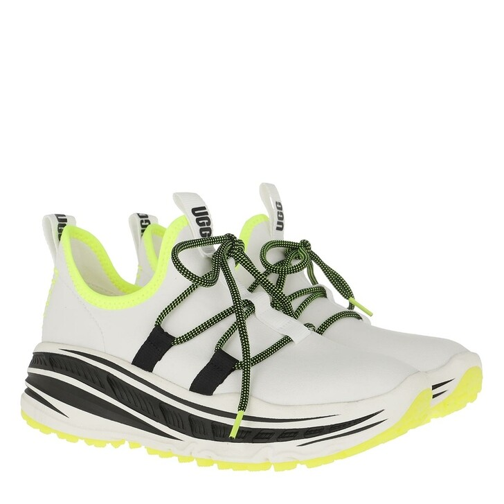 Schuh, UGG, Lace Runner Sneaker White/Yellow