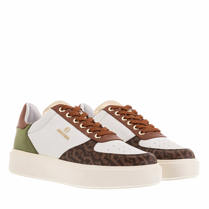 Schuh, AIGNER, Sally 1D White/Brown/Green
