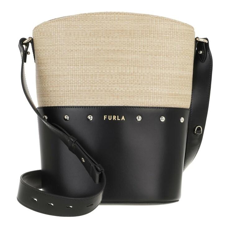 bags, Furla, Furla Share S Bucket Bag Deserto+Nero