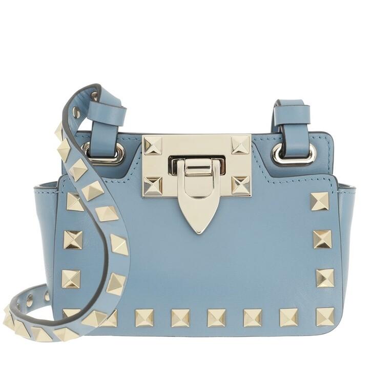 bags, Valentino Garavani, Rockstud Mini Bag Leather Niagara Blue