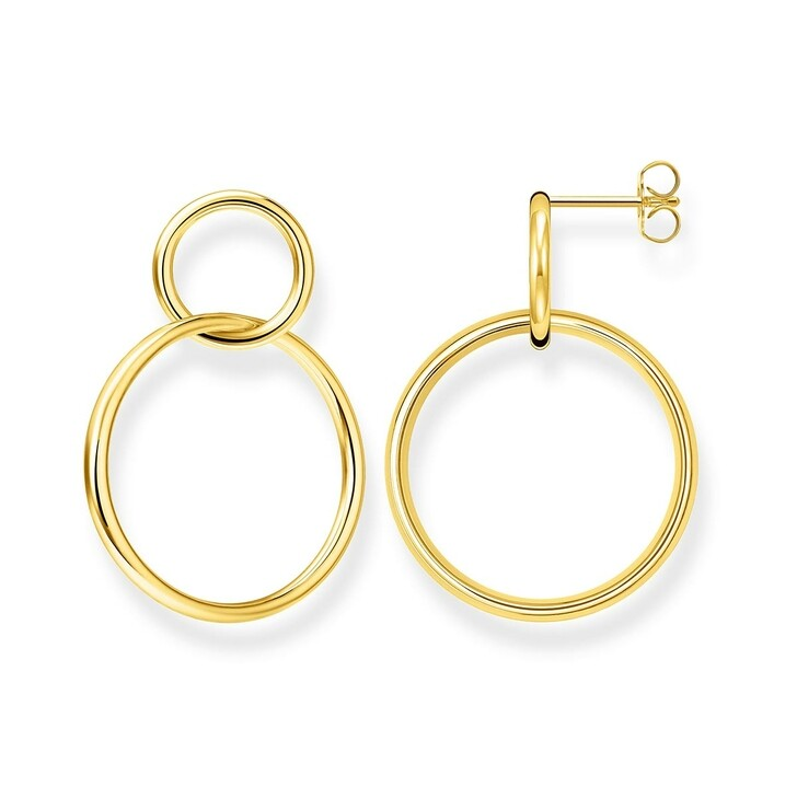 Ohrring, Thomas Sabo, Earring Circles Gold