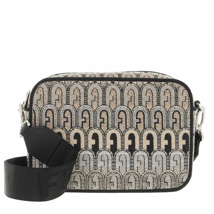 bags, Furla, Furla Real Mini Camera Case Toni Deserto+Nero