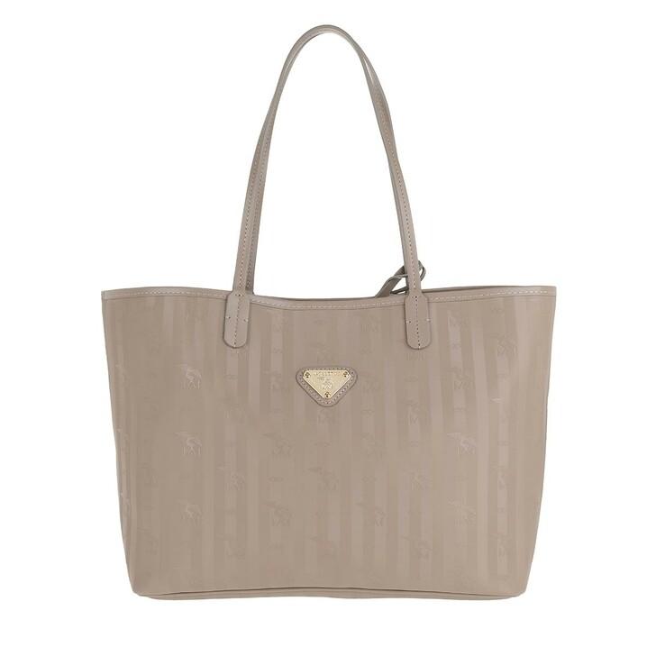 Handtasche, Maison Mollerus, Bern Shopping Bag Taupe/Gold
