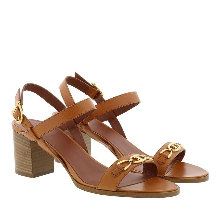 Schuh, Celine, Triomphe Sandals Leather Tan