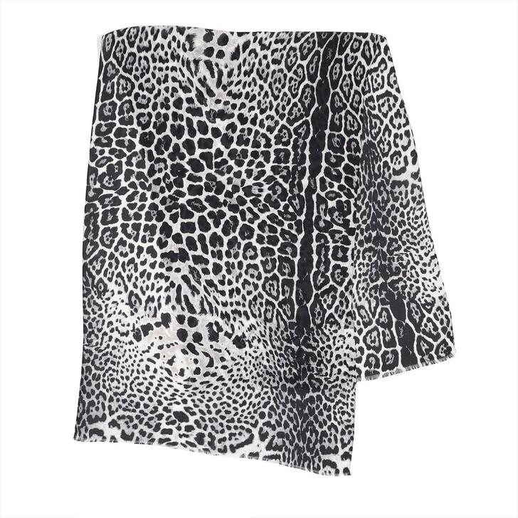 scarves, Saint Laurent, Leo Scarf Silk Graphite/Black