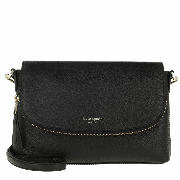 Handtasche, Kate Spade New York, Polly Large Convertible Flap Crossbody Bag Black