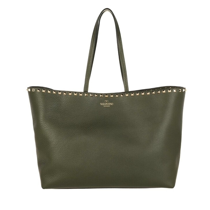 Handtasche, Valentino Garavani, Garavani Rockstud Tote Bag Olive Green