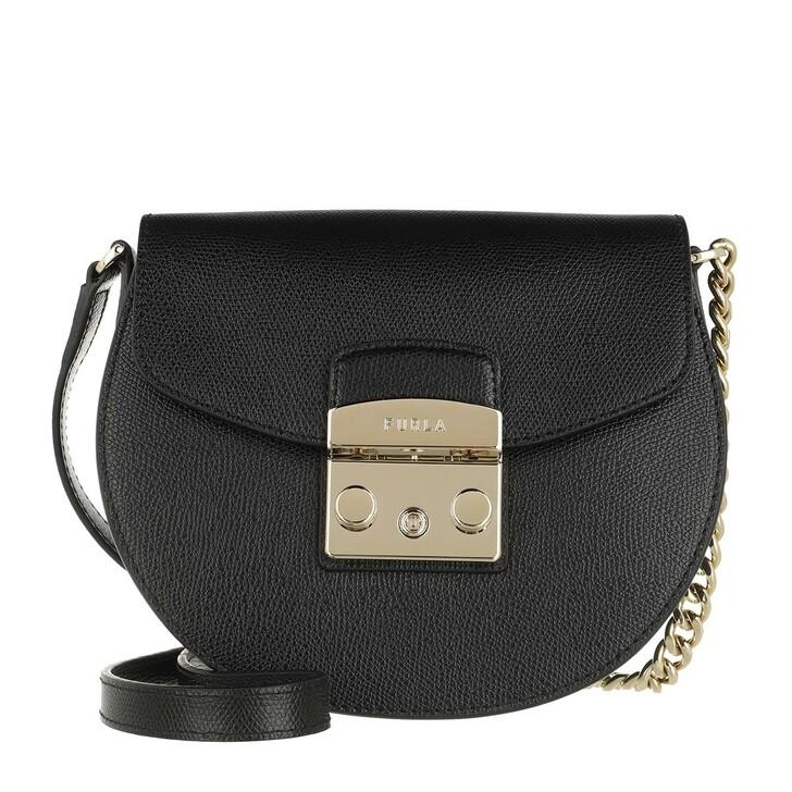 Handtasche, Furla, Metropolis Mini Crossbody Round Nero