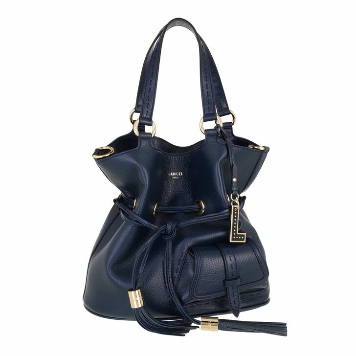 bags, Lancel, Bucket Bag M Petrol Blue