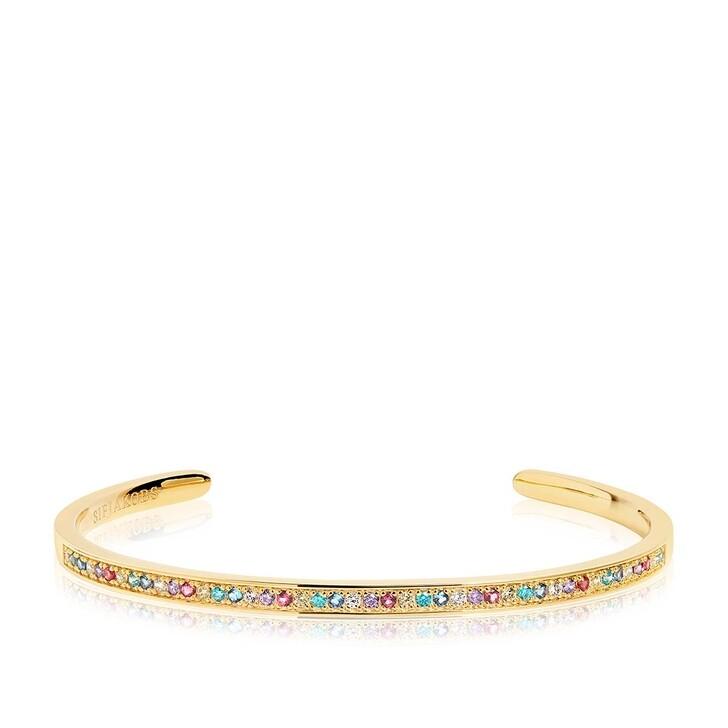 Armreif, Sif Jakobs Jewellery, Valiano Bangle Multicoloured Zirconia 18K Gold Plated