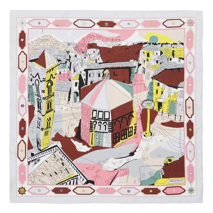 scarves, Emilio Pucci, Scarf Battistero Arc.90X90 Rosa/Bruciato