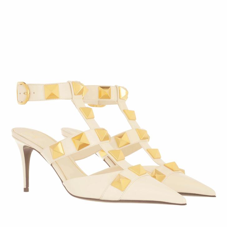 Schuh, Valentino Garavani, Roman Stud Ankle Strap Sandals Light Ivory