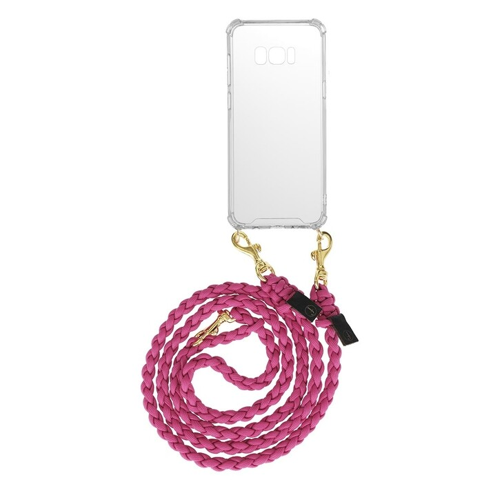 smart_cases, fashionette, Smartphone Galaxy S8 Plus Necklace Braided Berry