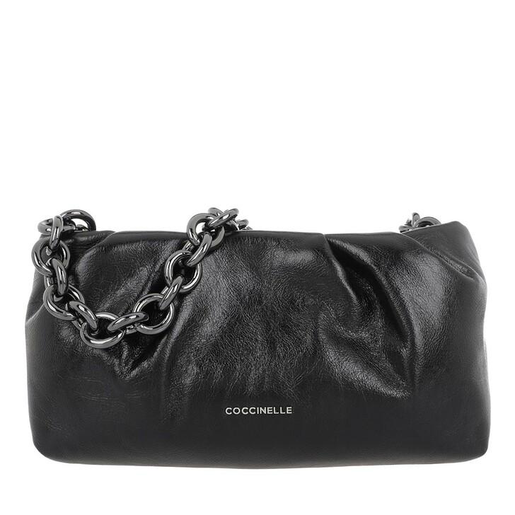 Handtasche, Coccinelle, Borsa Pelle Vitello Lucido Noir