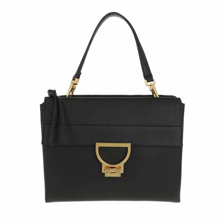 bags, Coccinelle, Arlettis Handbag Grainy Leather  Noir