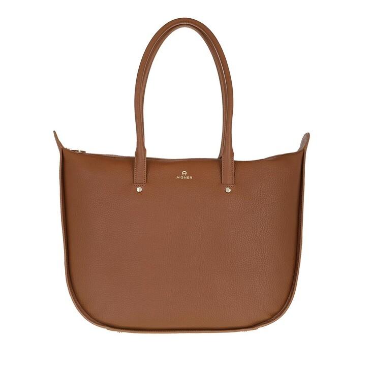 bags, AIGNER, Ivy Shopper Dark Toffee Brown