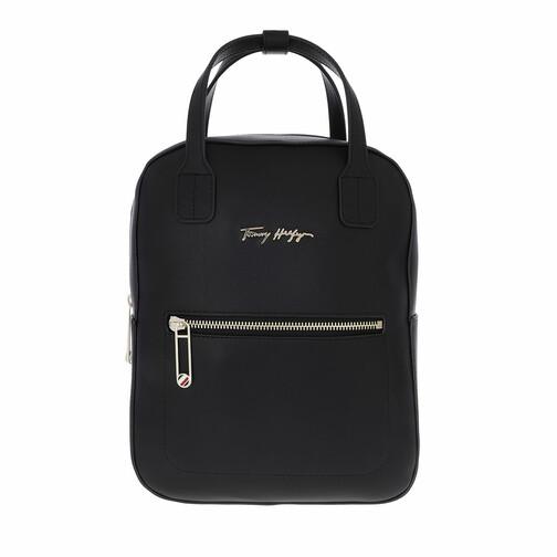 tommy hilfiger -  Rucksack - Iconic Tommy Signature Backpack - in schwarz - für Damen