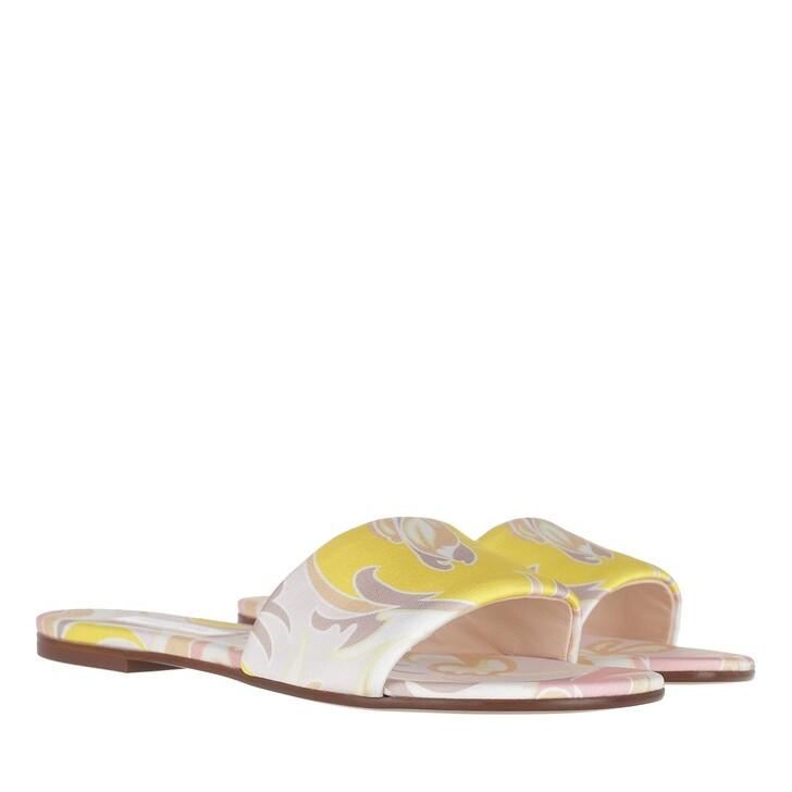 Schuh, Emilio Pucci, Mules Tropicana Baby Rosa/Pesca