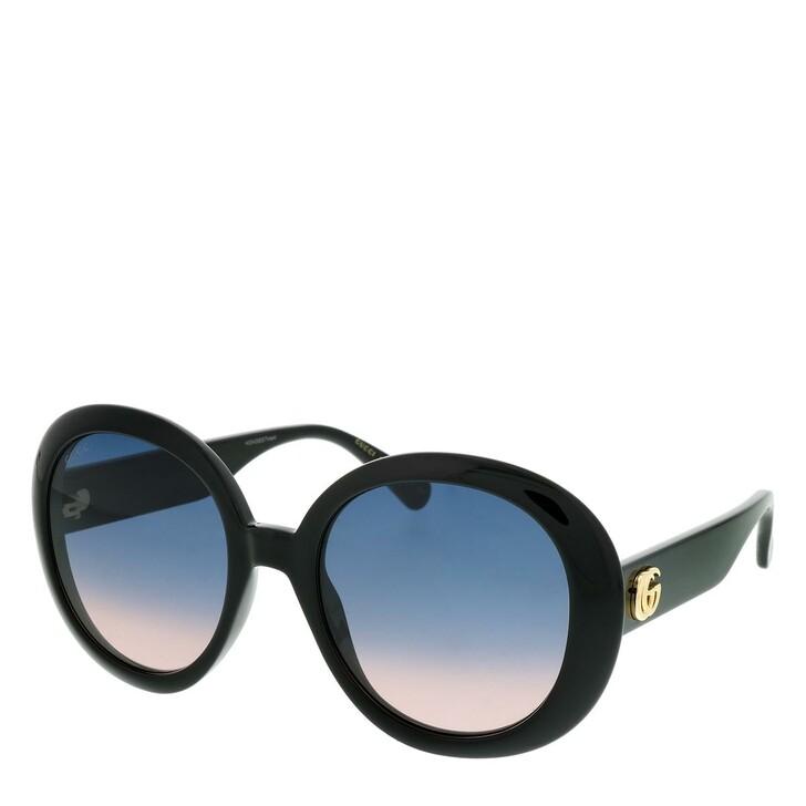 Sonnenbrille, Gucci, GG0712S-002 55 Sunglasses Black-Black-Blue