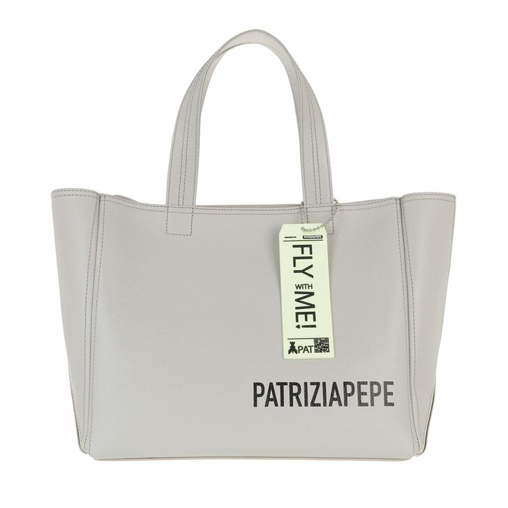bags, Patrizia Pepe, Tote Bag Ice Grey