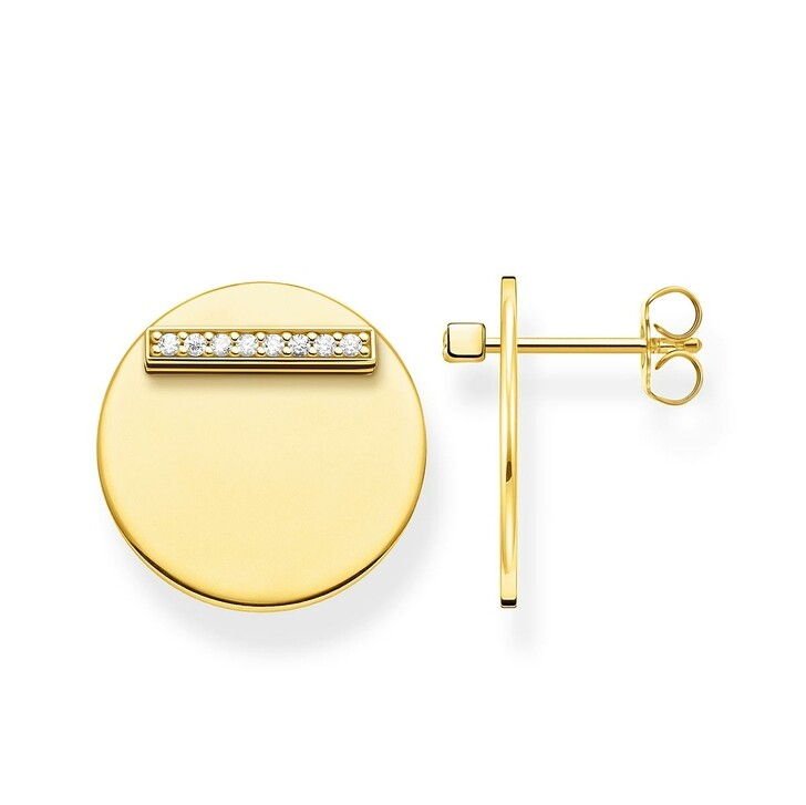 Ohrring, Thomas Sabo, Ear Studs Together Coin Gold