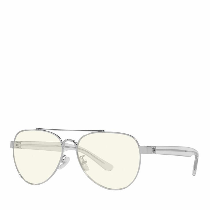 Brillen mit Gläsern, Tory Burch, Blue Blocker 0TY6070 Shiny Silver Metal