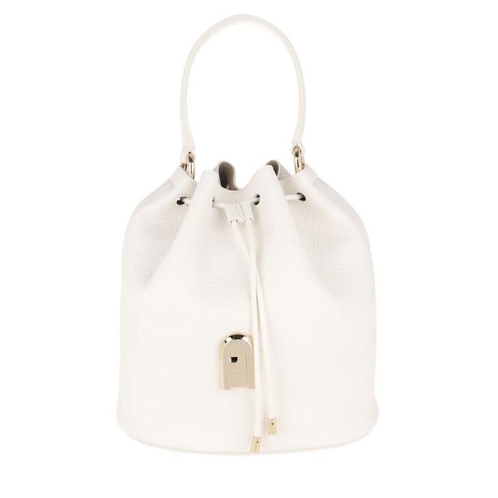 Handtasche, Furla, Sleek Small Drawstring Talco Toni Cognac
