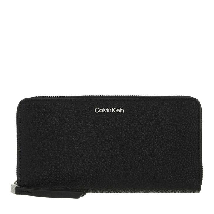 wallets, Calvin Klein, Soft Neat Z/A Wallet Large Black