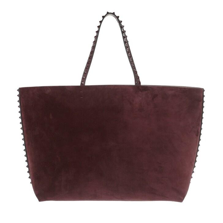 Handtasche, Valentino, Shopper Leather Bordeaux