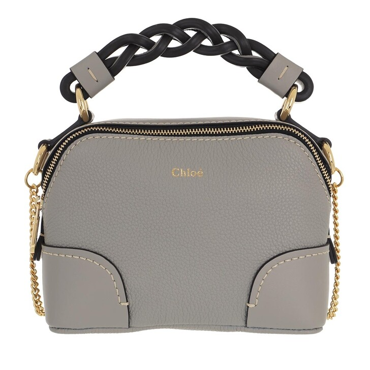 bags, Chloé, Shoulder Bag Leather Stormy Grey