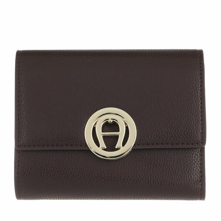 wallets, AIGNER, Livia Wallet Espresso Brown