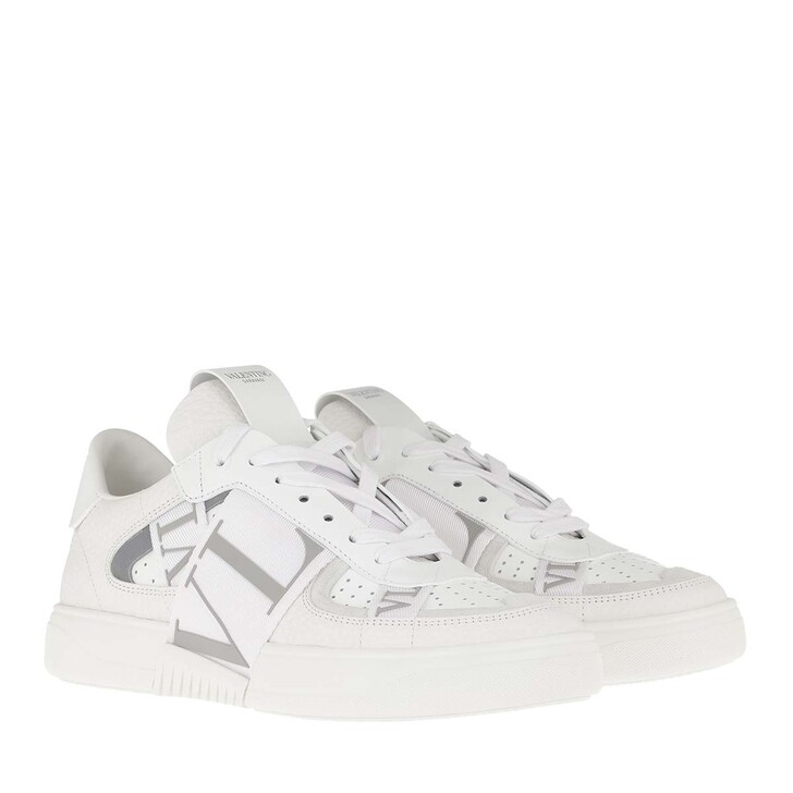 Schuh, Valentino Garavani, VLTN Low Top Sneakers Calf Leather White/Pastelgreen